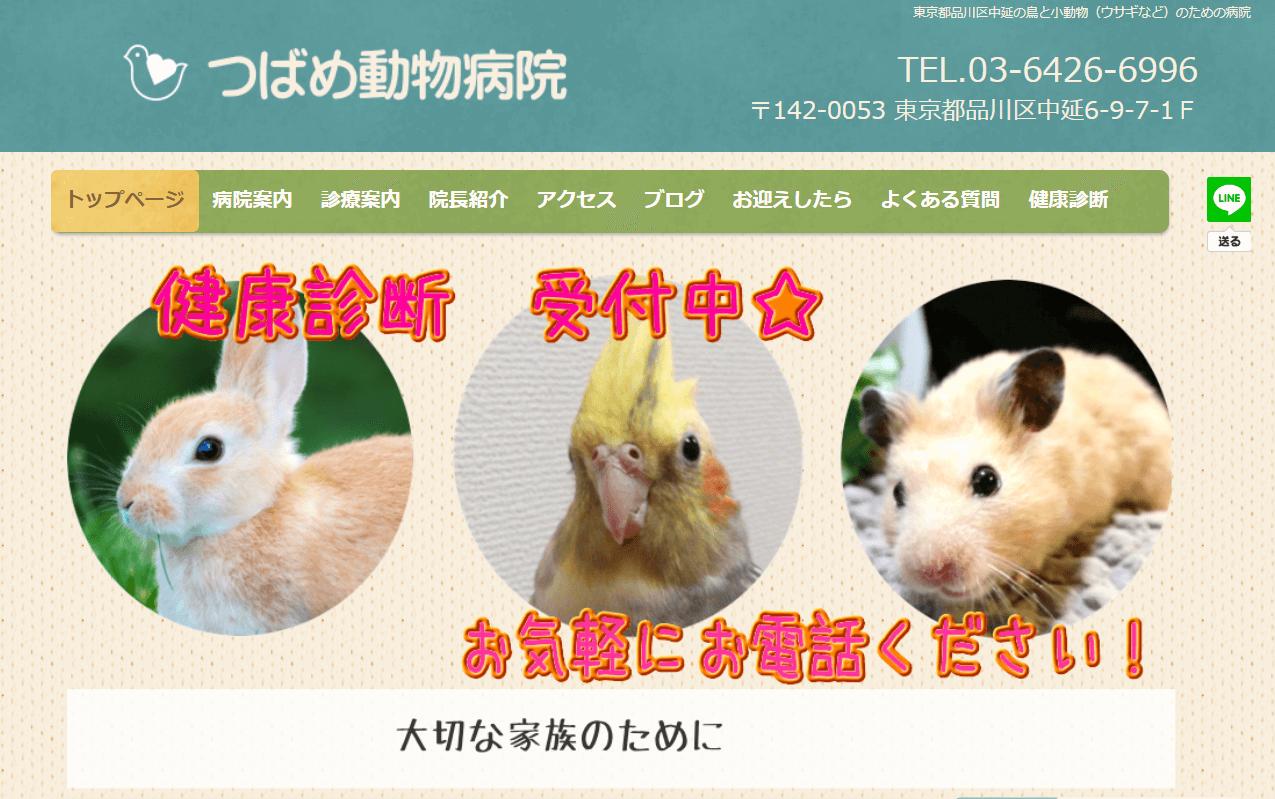 つばめ動物病院|東京都品川区中延・五反田の鳥と小動物のための病院 東京都品川区中延の鳥と小動物(ウサギなど)のための病院