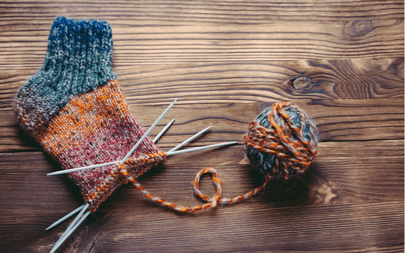 靴下 手編み